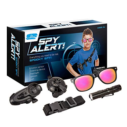Kid Labsters Spy Alert Kit - Pro Detective Spying Gadget w/ Hearing & Detector - Pretend Secret Agent & Crime Catcher Tool Toy Set for Kids Undercover Mission Adventure