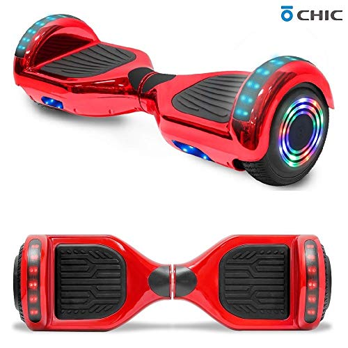 TPS 6.5' Chrome Hoverboard Electric Self Balancing Scooter w/Bluetooth UL2272 Certified LED Lights (Chrome Rose Gold)