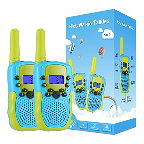 Kearui Toys for 3-12 Year Old Boys, Walkie Talkies for Kids 22 Channels 2 Way Radio Toy with Backlit LCD Flashlight, 3 Miles Range for Outside Adventures, Camping, Hiking