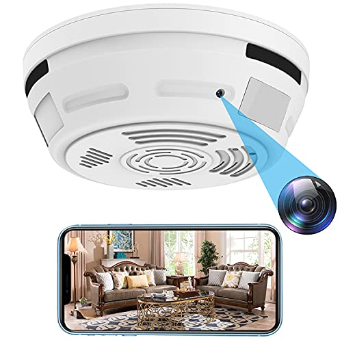 Hidden Camera Smoke Detector Wireless WiFi Spy Camera PIR Detection 1 Year Standby Mini HD 1080P Night Vision Motion Detection Video Recorder Real-Time View Nanny Cam for Home and Office