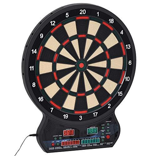 HOMCOM Electronic Hanging Dartboard LED Digital Score Set 27 Games and 202 Variations with 12 Soft Tip Darts