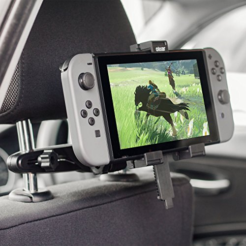 Olixar Car Mount for Nintendo Switch, Perfect for Back Seat Passengers - Headrest Mount - 360 Degree Rotation - Designed for Nintendo Switch - Recommended by T3