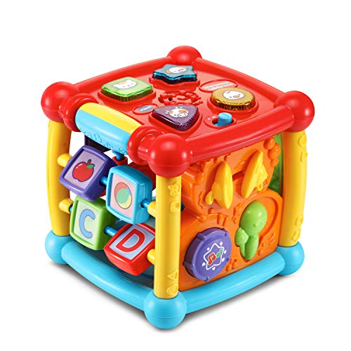 VTech 80-150500 Busy Learners Activity Cube, Regular, 6.22 x 6.22 x 6.46 Inches