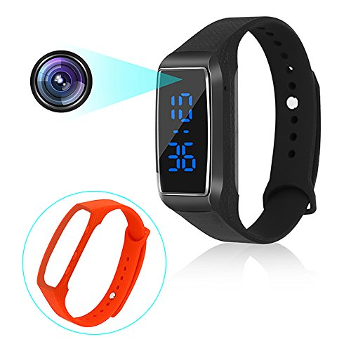 Sport Watch Hidden Cameras 1080P Smart Bracelet Style Mini Video Recorder Spy Camera With Time Display And Multi-language Manual