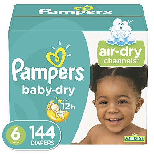 Diapers Size 6 (144 Count) - Pampers Baby Dry Disposable Baby Diapers, One Month Supply