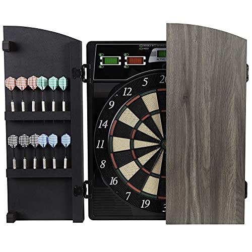 Arachnid Cricket Maxx 4.0 Electronic Dartboard Set, Black