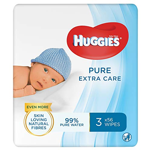Huggies Baby Wipes, Pure Extra Care, No. Packs (12 Packs, 672 Wipes Total)