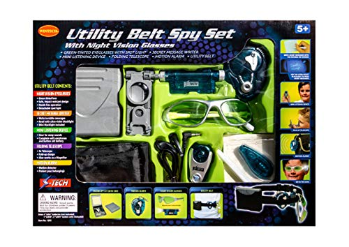 Utility Belt Spy Set with Night Vision Glasses