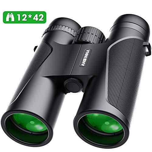 High Power Binocular, ansinna 12x42 HD Binoculars for Adults and Kids, FMC Lens, BAk4 Prism Binoculars Great for Bird Watching, Hunting, Traveling, Shooting, Sports Events, Concerts