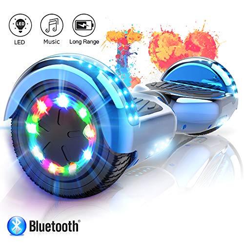 Smart Scooter Electric Auto Balance 6.5 Inch Self Balancing with Bluetooth & LED Self Balance E-Skateboard