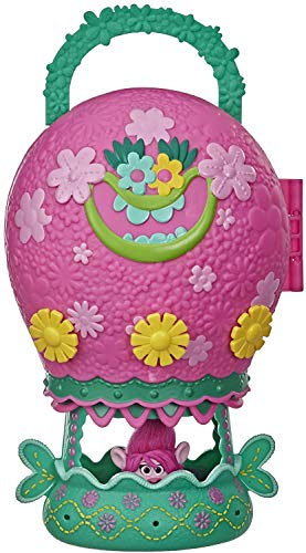 DreamWorks Trolls World Tour Tour Balloon, Toy Playset with Poppy Doll, with Storage and Handle for On-the-Go Play, Girls 4 Years and Up