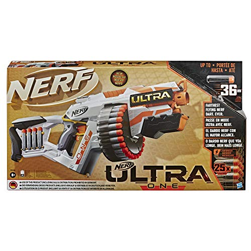 Nerf Ultra One Motorised Blaster -- 25 Ultra Darts -- Farthest Flying Darts Ever -- Compatible Only with Ultra One Darts