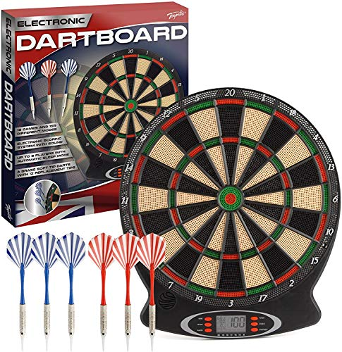 Wilton Bradley Toyrific dartboard with electronic scoring and games plastic tip darts. Fun game for maths