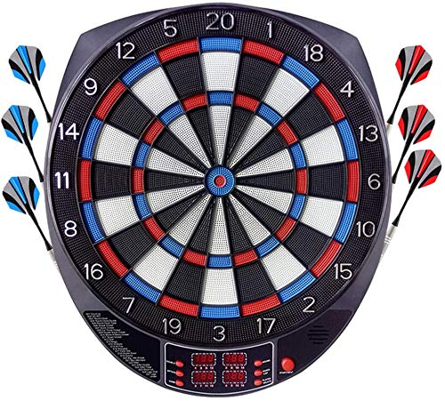 Mistep Electronic Dart Board, Dartboard Electronic Darts Board Set Professional E Dartboards with 6 Darts, Spare Tips, 27 Games and 243 Variants for 8 Players