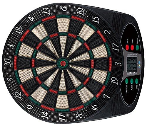 Solex 43317 Electronic Classic Dartboard 8 Player 6 Soft Darts 24 Tips 49 x 42 x 3 cm Multi-Coloured