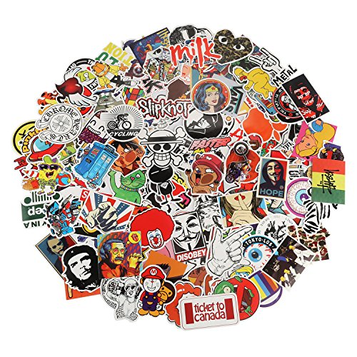 Xpassion Car Stickers Pack 200pcs Cool Bumper Decal Sticker for Laptop Macbook Motorcycle Bicycle Luggage Graffiti Patches Skateboard Snowboar iPhone PS4 Xbox One Nintendo Switch and more