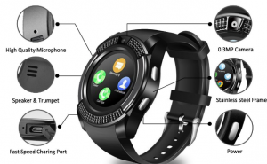 Touch Screen Wrist Watch with Camera