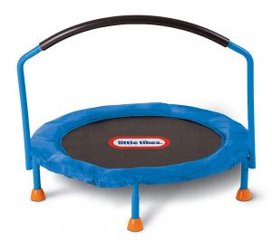 Trampoline jumping for child