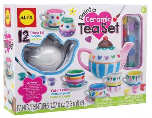 craft paint ceramic tea set for girls